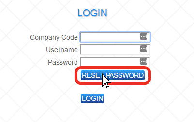 The Cayan SV/SVL sign-in page with the Reset Password button highlighted.