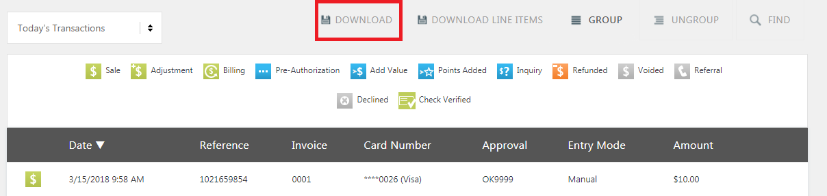 Example search results with the DOWNLOAD button highlighted.