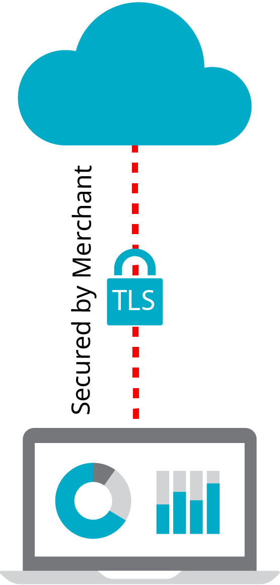 The Payments Portal connecting to a cloud using TLS.