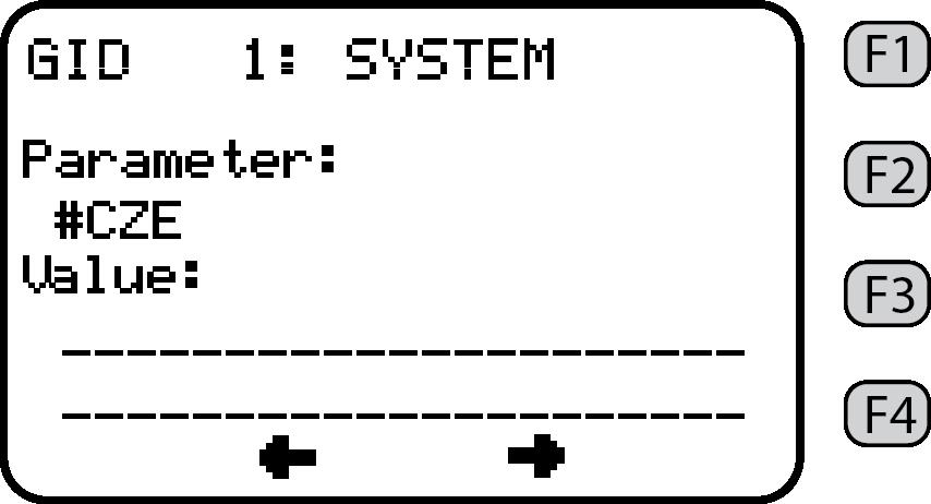 Parameter screen