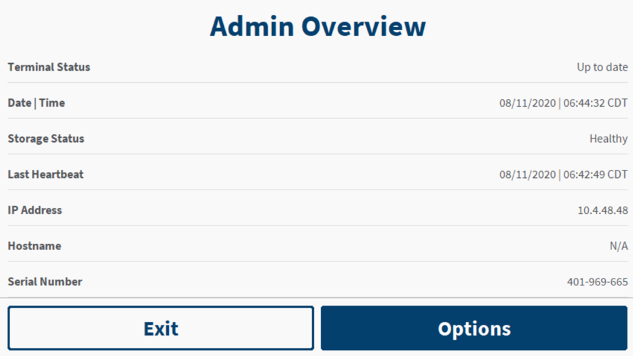 The Genius Administration screen with highlights for the IP address field and the Hostname field.