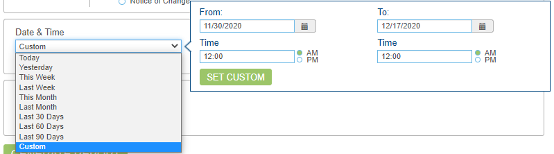 How do I run a report for check transactions using OpenEdge View? Descriptive Image - OEV Check report Custom date and time